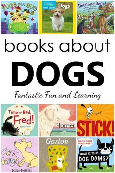 Fluffy, Playful and Cuddly Stories About Dogs~Click through to read summaries of our favorite dog books for kids. Books about dogs for preschool and kindergarten Preschool Reading Activities, Preschool Books, Preschool Class, Preschool Curriculum, Preschool Ideas, Homeschooling, Dog Books, Animal Books, Toddler Books