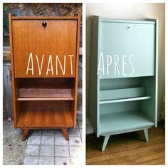Secrétaire vintage restauré sur www.retourdechine.fr
