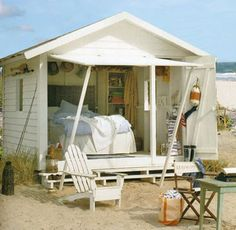 Introducing She Sheds: Women's Answer To The Man Cave cabane bord de plage Tiki Hut, Woman Cave, She Sheds, Beach Shack, The Design Files, Beach Cottages, Little Houses, Coastal Living, Coastal Style