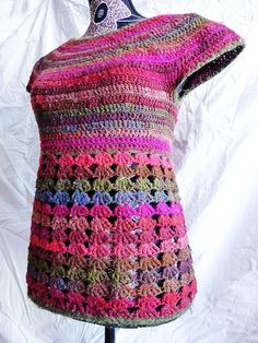 Violaine top - ladies vest sizes XS to XL - crochet pattern for sale on Etsy by FrenchStyleCrochet
