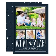 What A Year EDITABLE COLOR Holiday Photo Card - tap, personalize, buy right now!