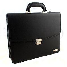 Pánská aktovka - černá kůže Suitcase, Bags, Fashion, Handbags, Moda, Fashion Styles, Fashion Illustrations, Briefcase, Bag