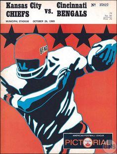 AFL Game Program: Cincinnati Bengals vs. Kansas City ...