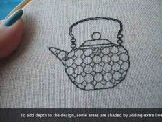 This video shows you the basics of blackwork embroidery: how to start and end stitching without knots, the Holbein stitch (also known as double running stitc. Cross Stitch Charts, Cross Stitch Designs, Cross Stitch Kits, Cross Stitch Patterns, Blackwork Patterns, Blackwork Embroidery, Cross Stitch Embroidery, Hand Embroidery Designs, Embroidery Patterns