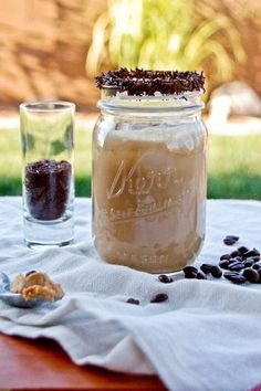 Frothy Peanut Butter Iced Coffee