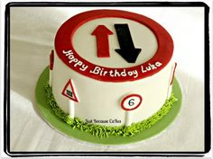 This one was for a little boy's who is mad about traffic signs birthday celebration. 17 Birthday Cake, 17th Birthday, Happy Birthday, Birthday Ideas, Celebration Cakes, Birthday Celebration, Traffic Sign, Cakes For Boys, Fondant