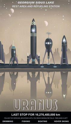 Retro futurismo Sci-Fi | Science Fiction vintage | #50s #60s