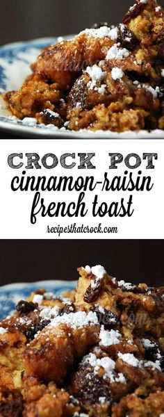 Delicious Crock Pot Cinnamon-Raisin French Toast - a new family favorite for breakfast!
