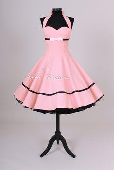 Petticoatkleider - Süßes 50er Jahre Kleid Art.: 21 - ein Designerstück von atelier-belle-couture bei DaWanda