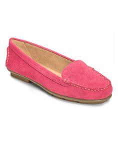 Look at this #zulilyfind! Pink Snake Nu Day Leather Loafer by Aerosoles #zulilyfinds