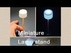 Shiny LED!! How to make miniature lamp stand/ doll house - YouTube #dollhouse #LED #lighting