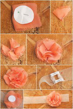 DIY: Haarschmuck für die Hochzeit eine Blüte aus Chiffon   Verrueckt nach Hochzeit