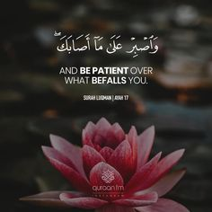 """""""And be patient over what befalls you"""" - [Surah Luqman Beautiful Quran Quotes, Quran Quotes Inspirational, Islamic Love Quotes, Muslim Quotes, Islam Hadith, Islam Quran, Alhamdulillah, Photos Islamiques, Citation Motivation Sport"""