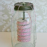 Hometalk :: Learn to make these cute mason jar twine holders. It's a great way to…