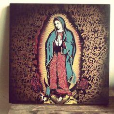 Virjen de Guadalupe painting at streetcraftla