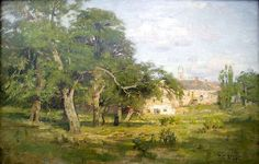 """When Chicago art conservator Barry Bauman removed T.C. Steele's """"An Old Garden"""" canvas from its frame for restoration last month, he discovered an 1890 Steele landscape that had been hidden nearly a century."""