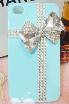 Bling tiffany iphone 4 case iphone 4s case iphone 5 case iphone 5 cover iphone 5 protection. $19.99, via Etsy.
