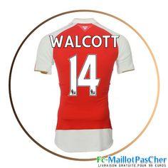 Maillot foot Arsenal rouge WALCOTT 14 Domicile 15 2016 2017