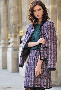 Spring Tweed Jacket and matching skirt. Linton Tweed