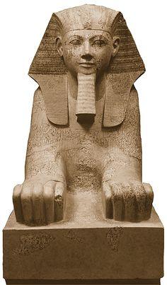 Sphinx of Hatshepsut, Granite, paint Egyptian Drawings, Egyptian Art, Ancient Art, Ancient Egypt, Egyptian Tattoo Sleeve, Pyramids Egypt, Dragon Tattoo Back Piece, Japanese Dragon Tattoos, Art History