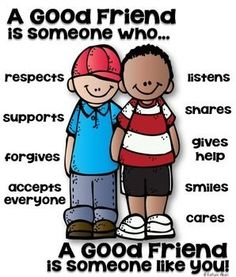 Poster [someone who] Friend Poster for Elementary - character education!Friend Poster for Elementary - character education! Classroom Behavior, Classroom Posters, Classroom Management, Classroom Door, Social Skills For Kids, Friends Poster, Good Readers, Preschool Graduation, Character Education