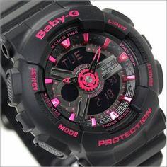 BUY Casio Baby-G Analog Digital 100M Ladies Black Pink Sport Watch BA-111-1A, BA111 - Buy Watches Online | CASIO NZ Watches