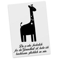 Postkarte Giraffe aus Karton 300 Gramm  weiß - Das Original von Mr. & Mrs. Panda.  Diese wunderschöne Postkarte aus edlem und hochwertigem 300 Gramm Papier wurde matt glänzend bedruckt und wirkt dadurch sehr edel. Natürlich ist sie auch als Geschenkkarte oder Einladungskarte problemlos zu verwenden. Jede unserer Postkarten wird von uns per hand entworfen, gefertigt, verpackt und verschickt.    Über unser Motiv Giraffe  Rekord: Giraffen sind die höchsten landlebenden Tiere der Welt. Männchen…