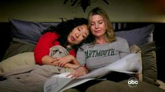 """We all know that Cristina Yang and Meredith Grey are the ultimate BFF duo on TV. They're so much more than just best friends. If you're lucky enough to have a friendship like Meredith and Cristina have, you know your best friend is truly """"your… Cristina Yang, Meredith E Cristina, Meredith And Christina, Meredith Grey, Donald Y Daisy, Grey Quotes, Dark And Twisty, Female Friendship, Sandra Oh"""