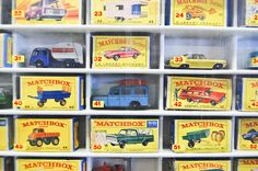 Matchbox cars. The best toy stores and departments displayed them in this manner, numerically in order.