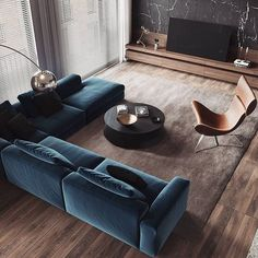 Living Room Interior Apartment - Modern Apartment Interior ideas that Grab Everyone's Attention Best Living Room Design, Living Room Modern, Living Room Interior, Home Living Room, Apartment Living, Living Spaces, Cool Living Room Ideas, Contemporary Living Room Furniture, Contemporary Sofa