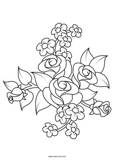 Flowers Coloring pages. Select from 32012 printable Coloring pages of cartoons, animals, nature, Bible and many more. Rose Coloring Pages, Printable Flower Coloring Pages, Adult Coloring Book Pages, Coloring Books, Wallpaper Crafts, Graphic Design Portfolio Examples, Clip Art Library, Free Adult Coloring, Illustration Blume