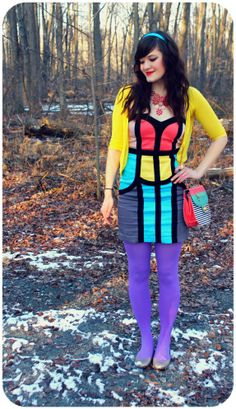 colourful style. <3 this look from the ModCloth Style Gallery! Cutest community ever. #indie #style