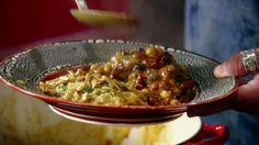 Get Chicken and Green Chile Pumpkin Bean Stew Recipe from Food Network