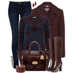Jacquard Sweater and Jeans