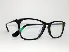 Óculos Pequeno Armação Acetato Feminino Tamanho 48 Preto