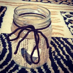 Cute homemade candle holder