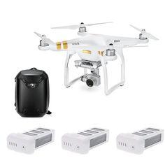 DJI Phantom 3 SE Wifi FPV 4K Camera Drone Vision Positioning Quadcopter & Shockproof Hardshell Backpack & 2 Extra Battery(2 Extra Battery Not Original Battery)