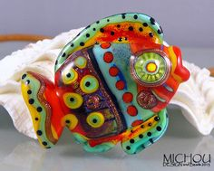 Funky Fish   Lampwork bead by Michou P Anderson by michoudesign, $69.00