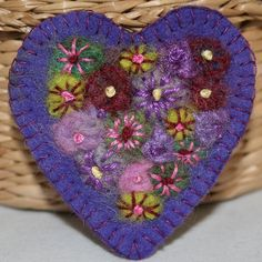 Heart posy brooch by lynwoodcrafts