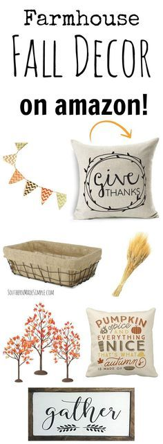 Who's ready for Fall?! I can't wait to break out the pumpkins start decorating my home with these super cute Farmhouse decor items found on Amazon!
