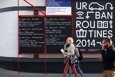 OK-RM – Urban Routines, 2013–14 research programme identity for Strelka Institute