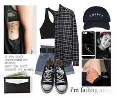 """I'm Fading Away"" by jasloves5sos ❤ liked on Polyvore featuring adidas, 6397, Converse, tumblr, blackandwhite and michaelclifford"