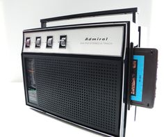 Vintage Admiral Portable AM/FM Stereo 8 Track by RockofSages, $46.00
