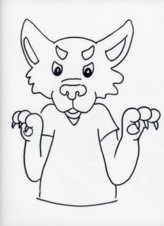 Un dessin rigolo de monsieur le loup colorier coloriages animaux de la for t coloriage - Coloriage loup rigolo ...