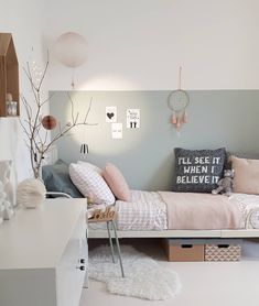 Picture could include: table, bedroom and interior - Kinderzimmer - Schlafzimmer Baby Bedroom, Girls Bedroom, Bedroom Decor, Bedrooms, Room Interior, Interior Design, Coastal Interior, Modern Coastal, Apartment Interior
