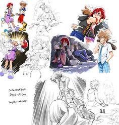 Kingdom Hearts 3, Disney Magic, Disney Art, Sora And Kairi, Heart Artwork, Heart Pictures, Supernatural Fans, Jojo's Bizarre Adventure, Final Fantasy
