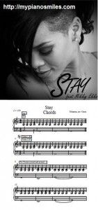 Stay sheet music, I'm learning to play this on the piano.
