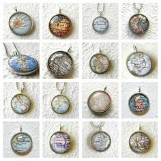 Custom Map Necklace - YOU Pick Your Map