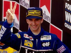 Damon Hill ,Williams ,Spa - Belgium 1993, his 2nd win of the season.