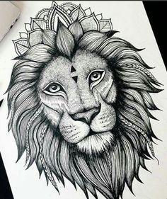 Bildergebnis für zentangle lion
